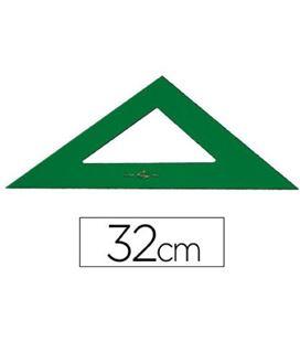 Escuadra 32cms verde faber castell 566-32