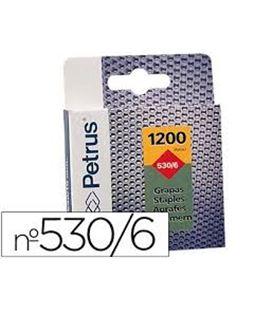 Grapa 530/6mm galvanizada c.1200 petrus 77513 - 77513