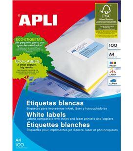 Etiqueta poliv. a4 100h 105mmx48mm 1200u c/r/b apli 01289 - 01275