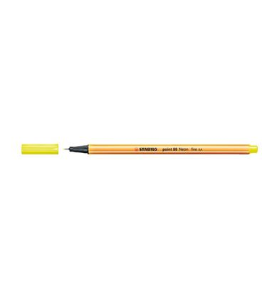 Rotulador 04 punta fibra amarillo fluor point 88 stab 88/024 - 190881