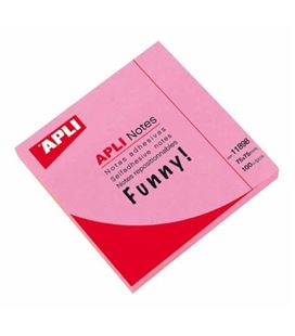 Nota adhesiva posit 75x75 100h rosa brillante apli 11898
