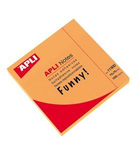 Nota adhesiva posit 75x75 100h naranja brillante apli 11900