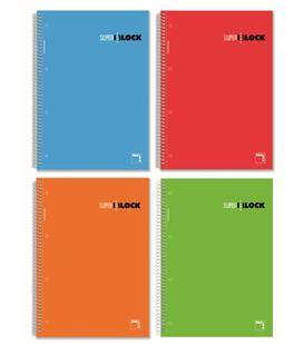 Cuaderno a4 rayado 120h 90grs microperforado pacsa 16367