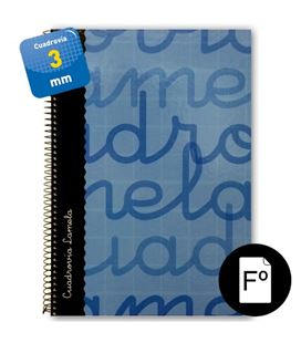 Cuaderno folio 3mm 80h 70g t.dura azul lamela 7fte003a 537294