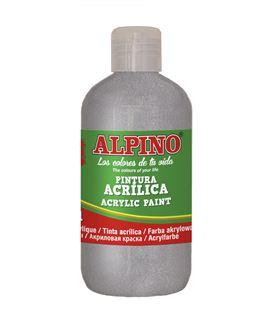 Pintura acrilica botella 250 ml plata alpino dv000135 - 111564