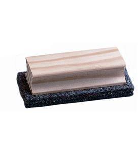 Borrador pizarra de fieltro empuñadura madera 4x11x1,5 faibo - 113198