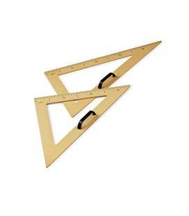 Escuadra pizarra plastico imitacion madera 50 cm faibo - 112433