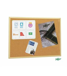 Tablero corcho 80x120 marco madera pino economico faibo - 113231