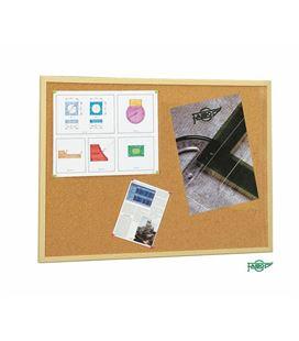 Tablero corcho 80x120cm marco madera pino economico faibo 607-5