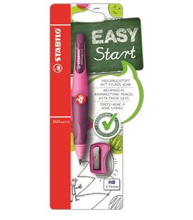 Portaminas easyergo diestros rosa+sacapuntas stabilo