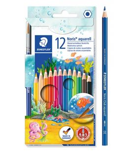 Pintura madera acuarelables c.12 uds + pincel staedtler 144 10nc1212 - 144 10NC12