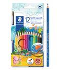 Lapicero lapizs color acuarelables cj.12 uds + pincel staedtler 144 10nc1212
