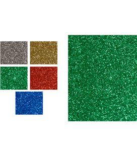 Cartulina purpurina 50x65cm 250gr 5 hj rojo smart - 113871