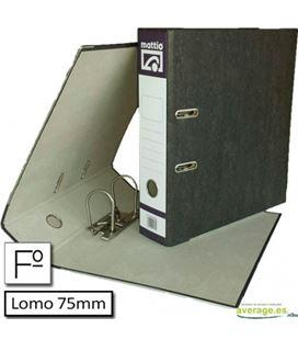 Archivador jaspeado folio l.ancho c/rd negro mattio mtt10082n - 52050