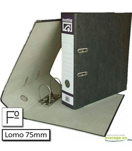 Archivador jaspeado folio l.ancho c/rd negro mattio - MTT10082N