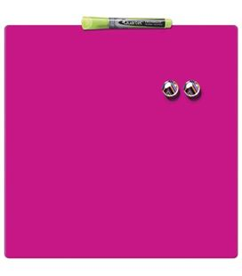 Pizarra hogar magnética 360x360mm rosa quartet rexel - 130271