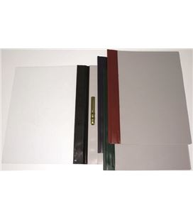 Dossier fastener metal folio negro pvc 150 mic lomo recto grafoplas - 221583