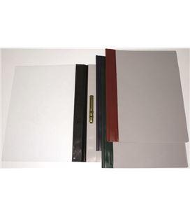 Dossier fastener metal foliolio negro pvc 150 mic lomo recto grafolioplas 0503151 - 221583