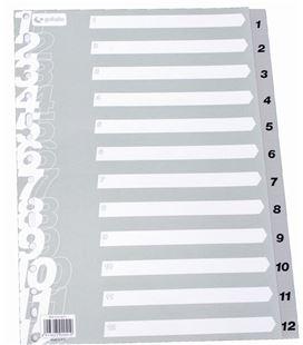 Indice numerico pp foliolio 1-12 gris multit grafolioplas 41412071