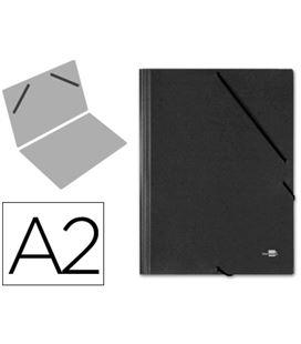 Carpeta planos a2 con goma negro q-connect 27153