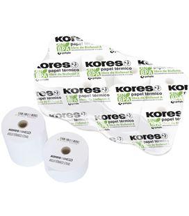 Papel termico rollo 57mmx35mts s/bisf 10 unidades kores grafoplas 56654100 - 56654100