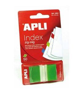Nota adhesiva posit banderita 25x45 zigzag 50h verde apli 12612 - 12612