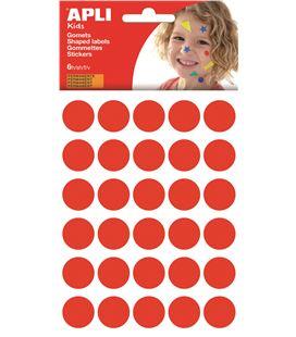 Gomet bolsa circulo grande 20mm rojo 6h apli 13225 - 112378