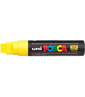 Rotulador permanente 15mm amarillo pc-17k posca uni 364178 - PC17K AMARILLO
