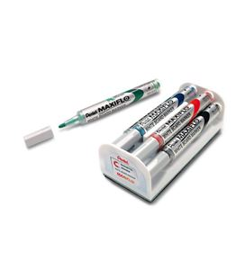 Rotulador pizarra blanca + borrador pack.4 maxiflo pentel mwl5s-4n - MWL5S-4NSR