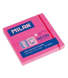 Notas adhesivas 75x75 rosa brillante 80h milan 85432 - 85432