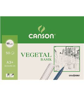 Papel vegetal bloc 50h a3+ guarro 040-0713 - 230269