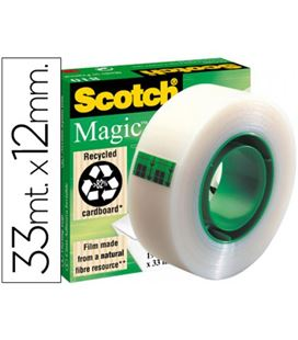 Cinta adhesiva invisible 12mmx33m 810 magic cj.individual scotch 810/1233