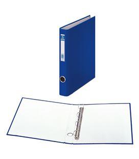 Carpeta 4 anillas folio 25mm carton folio. ofi. azul dohe 09665