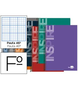 Cuaderno folio nº46 80h 60grs t/d surtido liderpapel 51993 - 51993