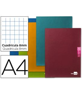 Cuaderno grapa a4 8x8mm 48h 90grs surtido liderpapel 52160