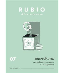 Cuaderno escolar escritura 07 rubio 10920