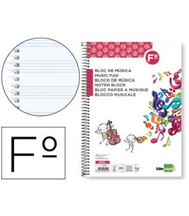 Cuaderno musica folio 12 pentagramas liderpapel 22551 bm01