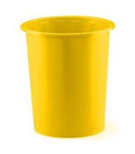 Papelera plastico 305 amarillo 14 l faibo 305-05 - 305-05