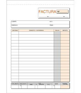 Talonario factura cuarto natural 50h 2t loan t-63 420632 - T63