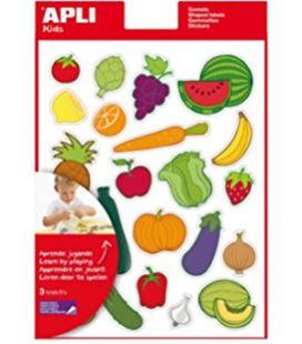 Gomet bolsa figuras frutas y verduras 12h removible apli 11451