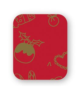 Papel regalo bobina rojo-oro 62cmx190mts grafolioplas 66950200