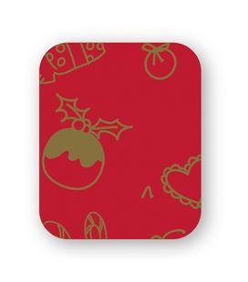 Papel regalo bobina rojo-oro 62cmx190mts grafoplas 66950200
