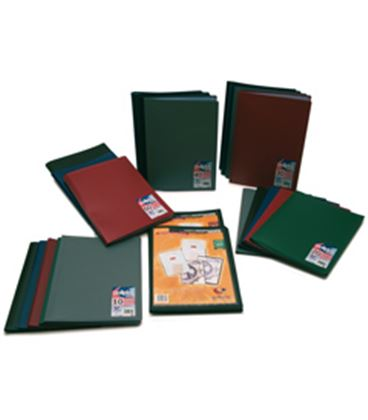 Carpeta 10 fundas folio pp semirigido personalizable negro poliplas grafop - GP01435510
