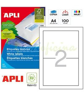 Etiqueta poliv. a4 100h 175mmx135mm 200u c/r/b apli 11659 - 11659