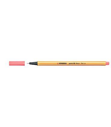 Rotulador 04 punta fibra rojo fluor point 88 stabilo 88/040 - 190885