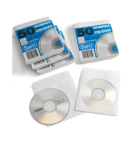 Sobre blanco 125x125 cd/dvd pack.50 sam 664897 648950 - SOBRES CD
