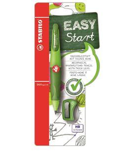 Portaminas easyergo diestros verde+sacapuntas stabilo