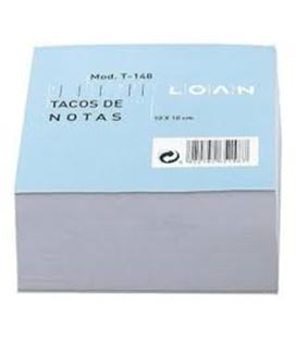 Notas 100x100mm 500h blanco engomado loan t-148