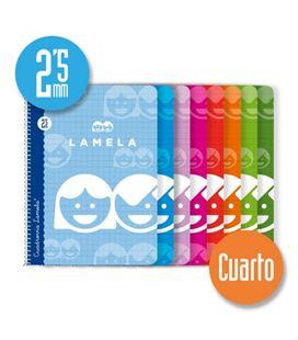 Cuaderno espiral cuarto 2,5mm 40h 70g lamela 07002 - 07002