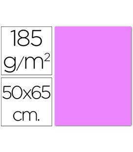 Cartulina 50x65cms 25h 185grs rosa claro guarro 200040363